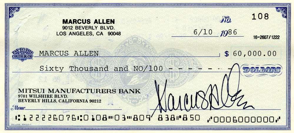 1986 June 10, Marcus Allen