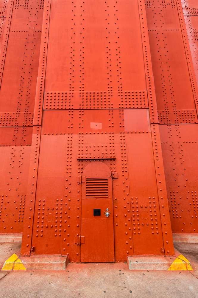 The door into the Golden Gate Bridge