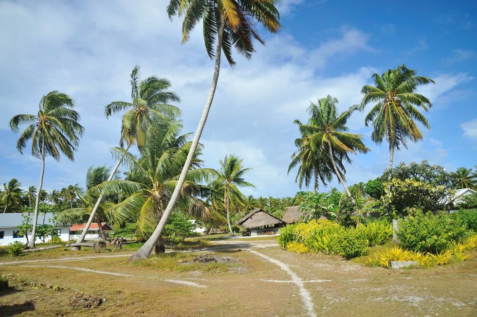 Main street in Nassau, Cook Islands
