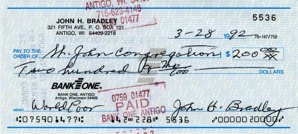 1992 March 28 John Bradley