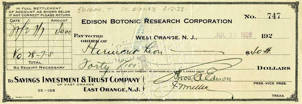 1928 July 12, Thomas Edison