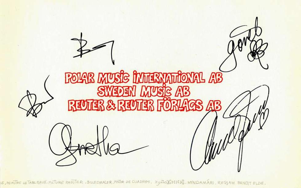 1982, ABBA Björn, Benny, Agnetha, Anni-Frid, Görel