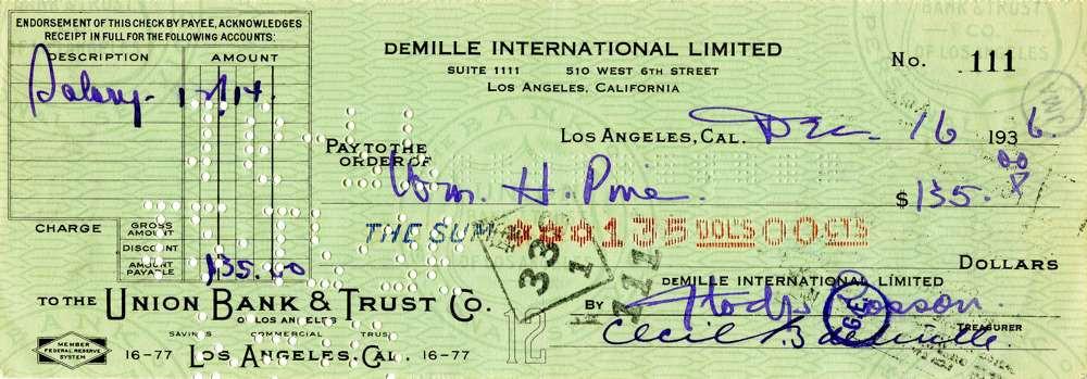 1936 April 16, Cecil B DeMille