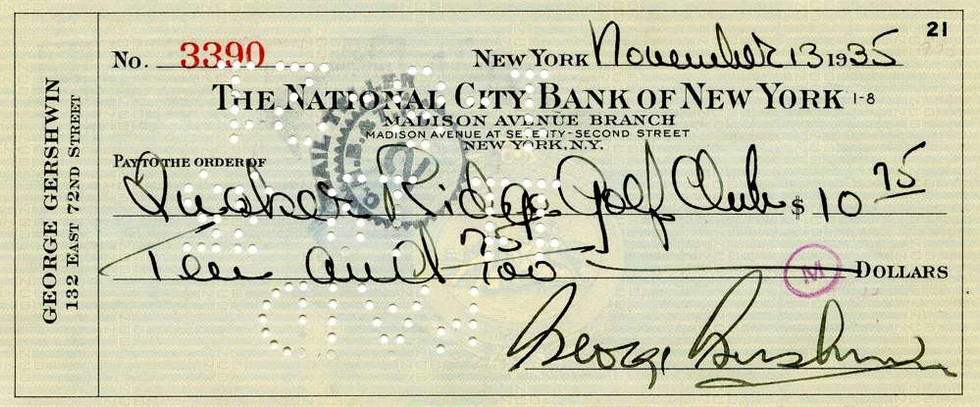1935 Nov 13, George Gershwin