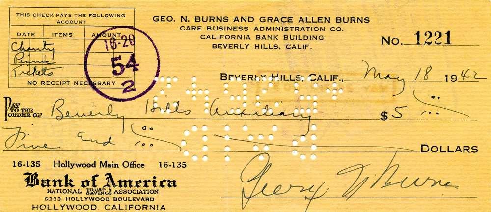 1942 May 18, George Burns