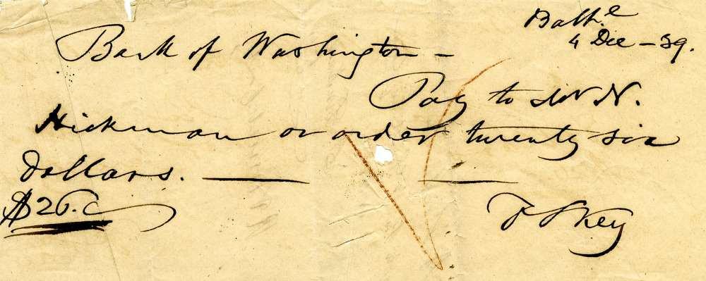 1839 Dec 4, Francis Scott Key