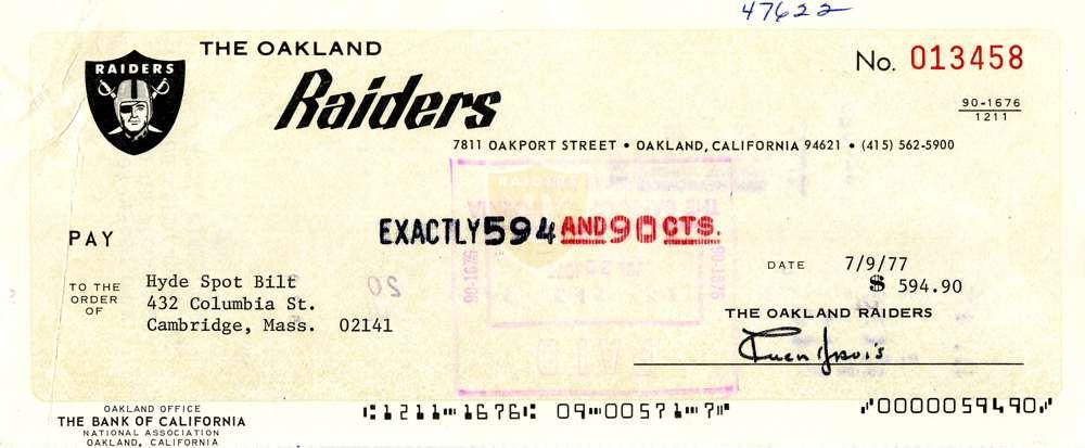 1977 July 9, Al Davis
