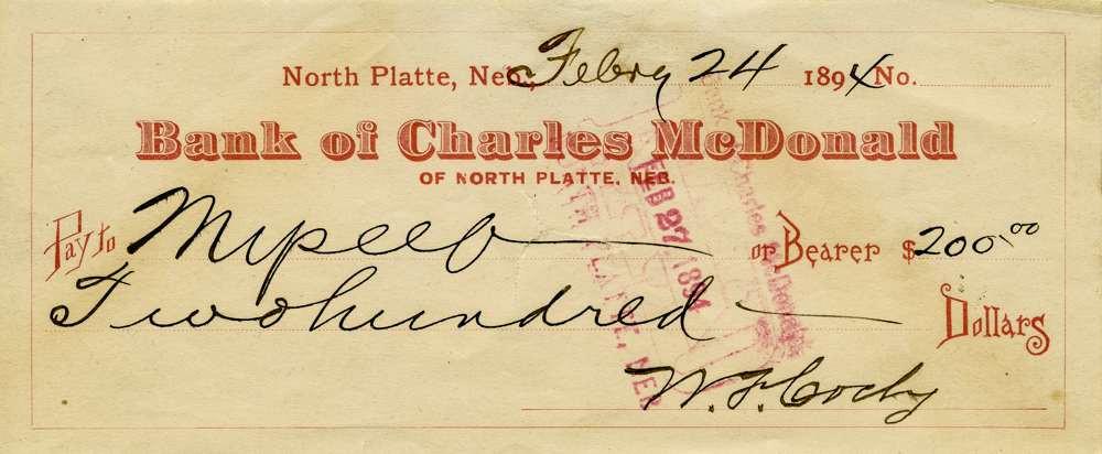 """1894 Feb 24 William """"Buffalo Bill"""" Cody."""