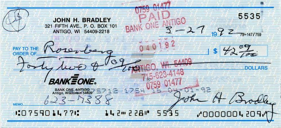 1992 March 27 John Bradley
