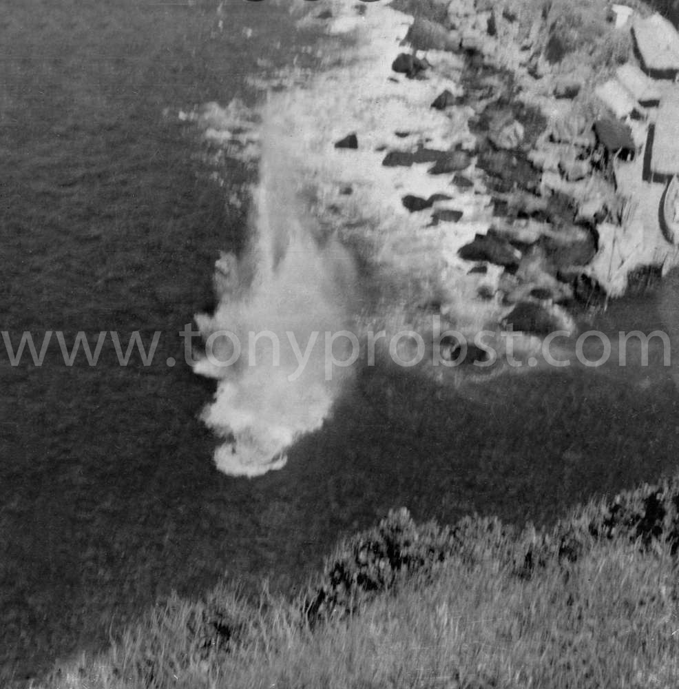 1957 April-2 Blowing up a rock that lies close to the surface
