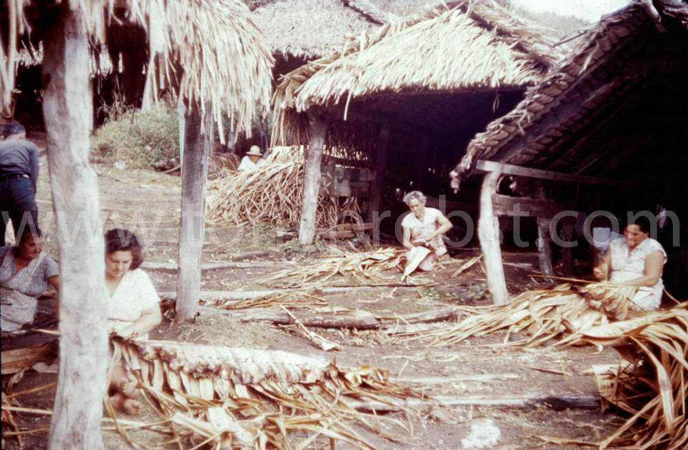 1953 Making baskets at the Landing