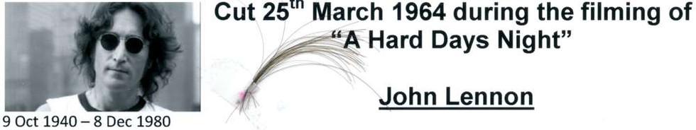 1970, June 3 John Lennon hair