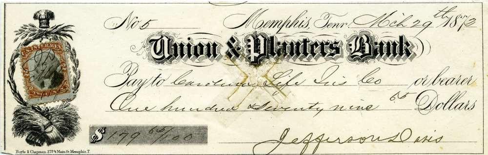 1872 March 29 President Jefferson Davis