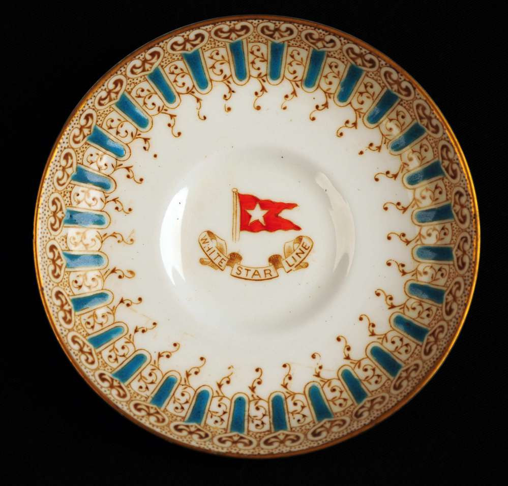 First class saucer from the Titanic dated March 1912
