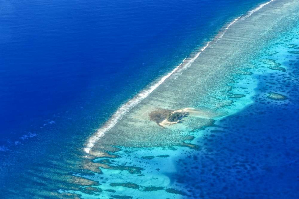 North outer reef Mangareva
