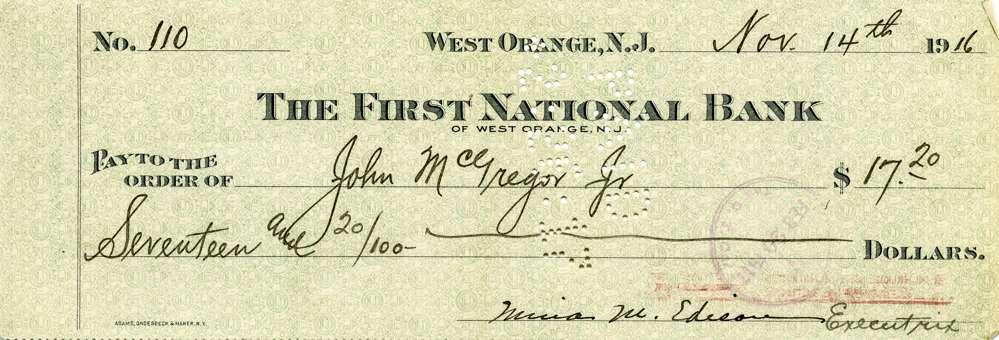 1916 Nov 14 Mina Edison