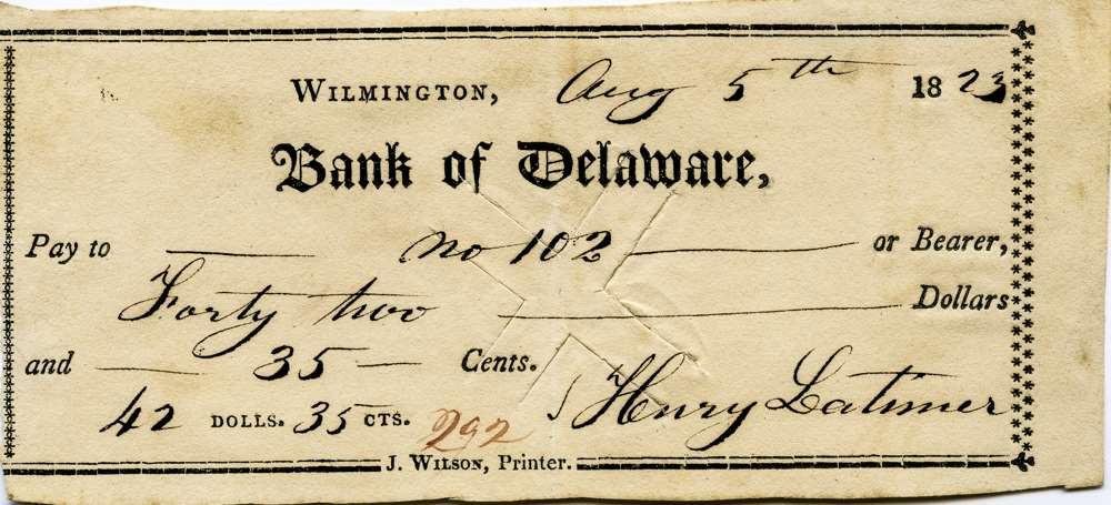 1823 Aug 5 Henry Latimer Jr to slave #102
