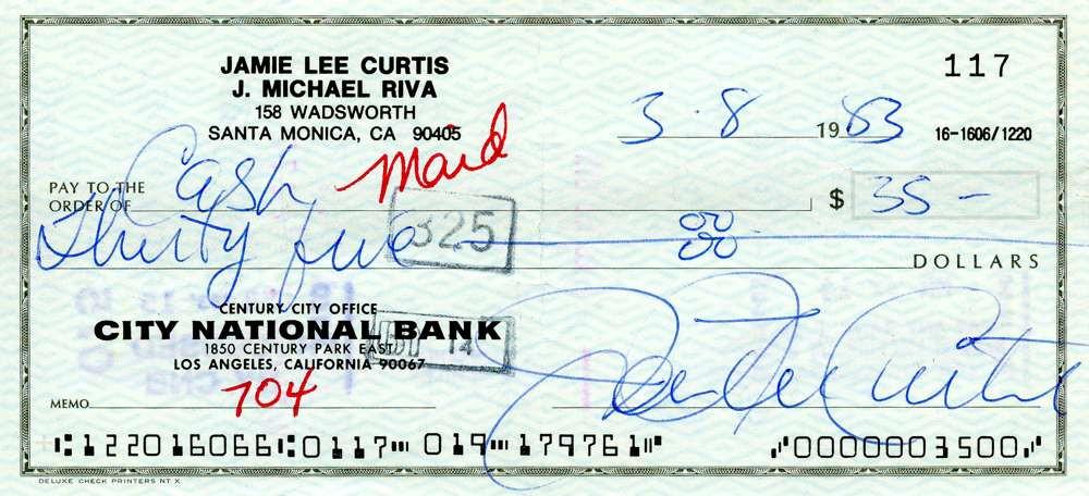 1983 March 8, Jamie Lee Curtis