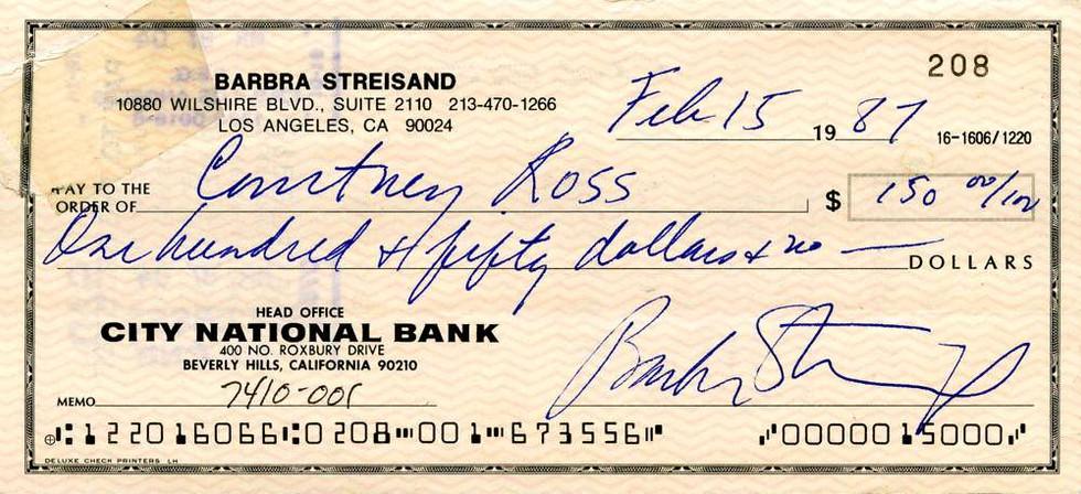1987 Feb 15, Barbra Streisand