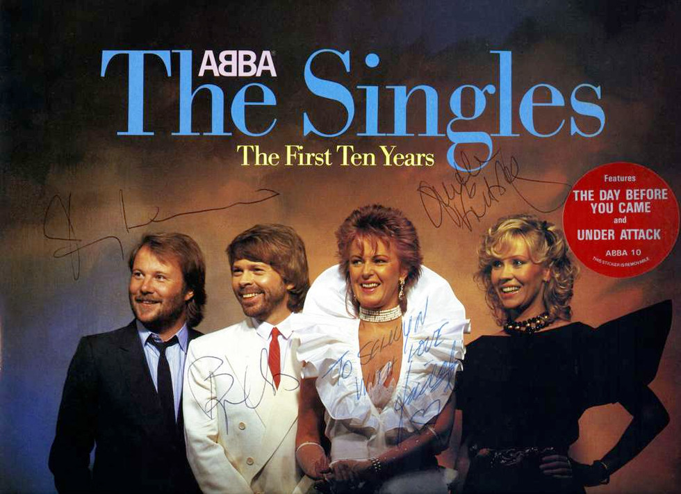 1982 Nov, ABBA Benny Andersson, Björn Ulvaeus, Anni-Frid Lyngstad, Agnetha Fältskog