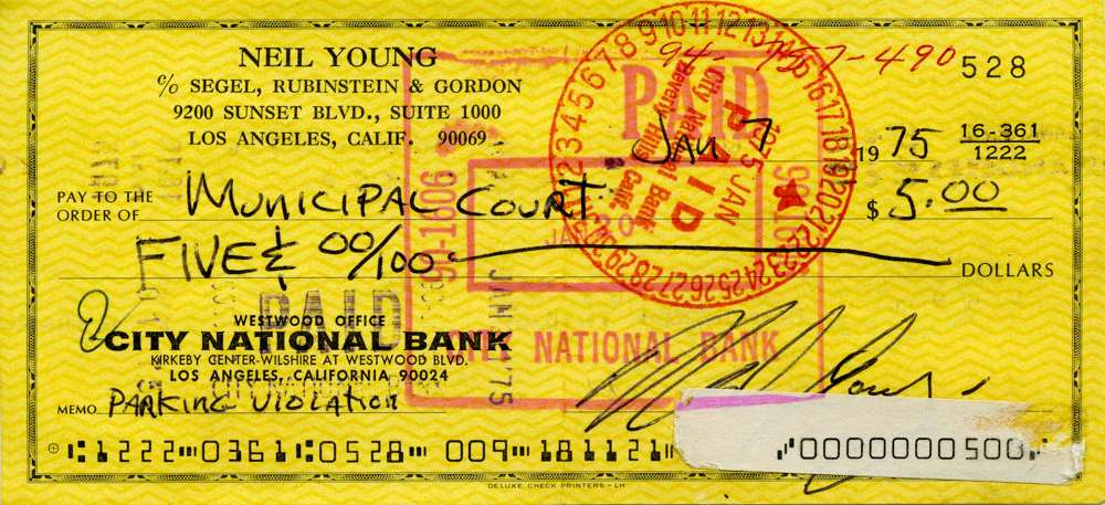 1975 Jan 7 Neil Young