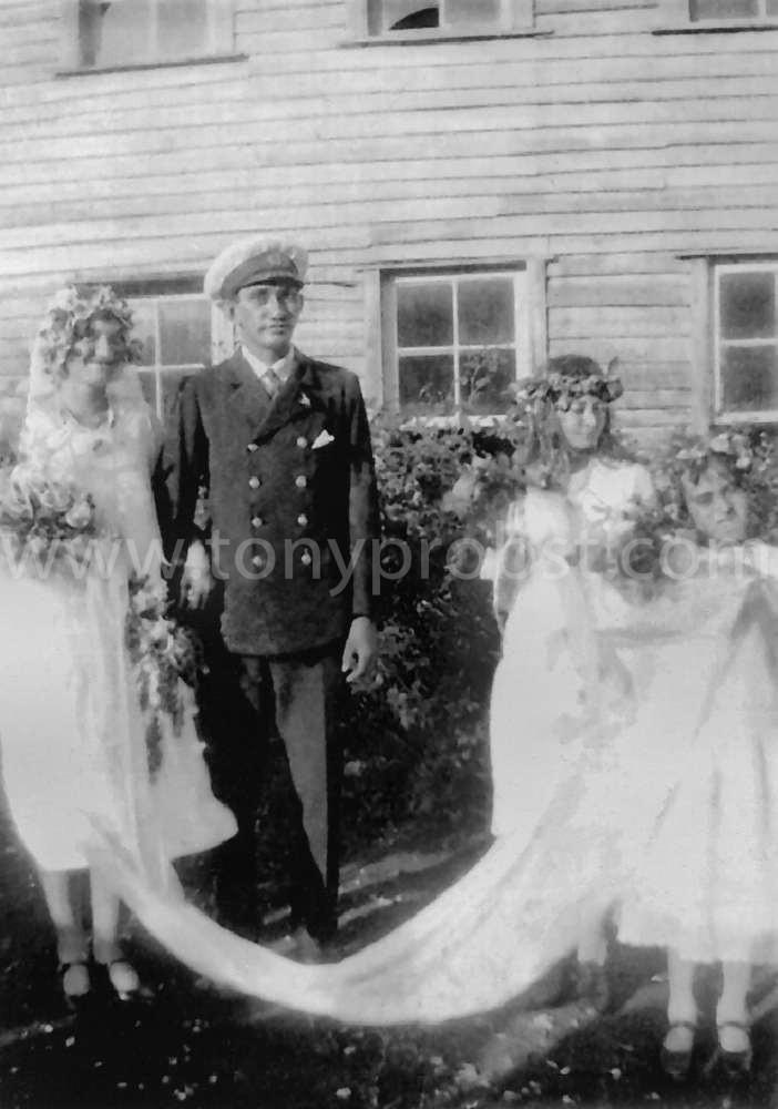 1932 June Linas & Gifford Christian's wedding