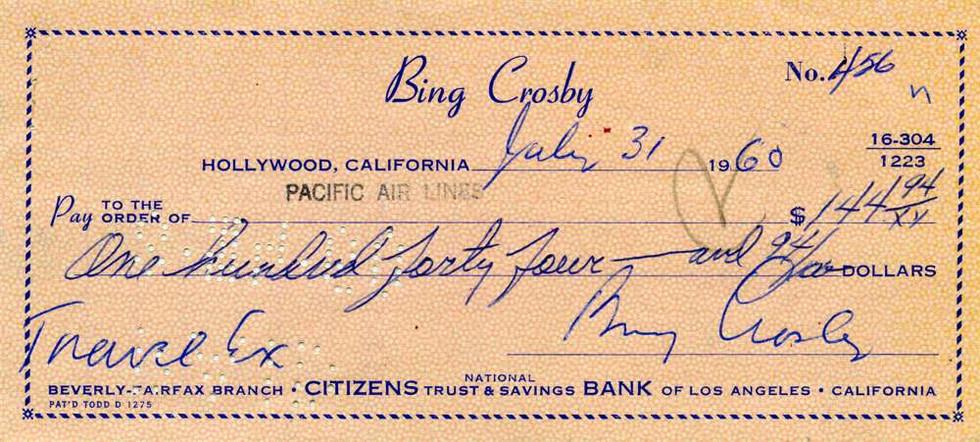 1960 July 31 Bing Crosby