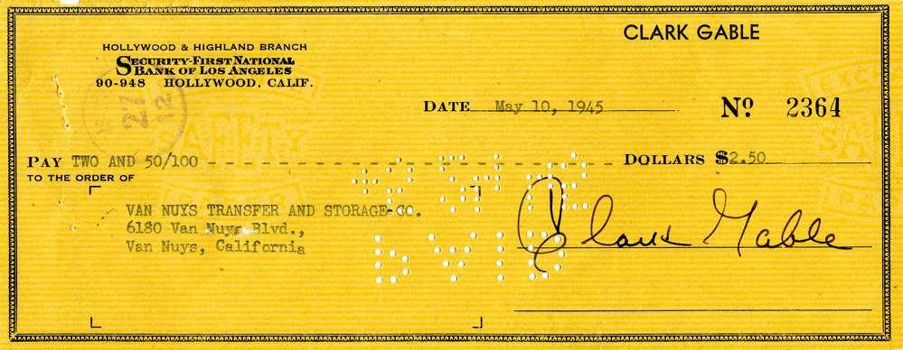 1945 May 10, Clark gable