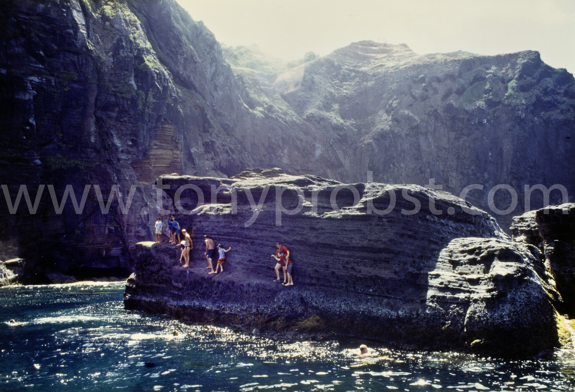 1967Fishing and swiming from Gudgeon rock. The bravest would dive of the top