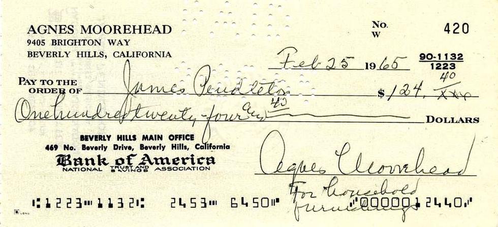 1965 Feb 25 Agnes Moorehead