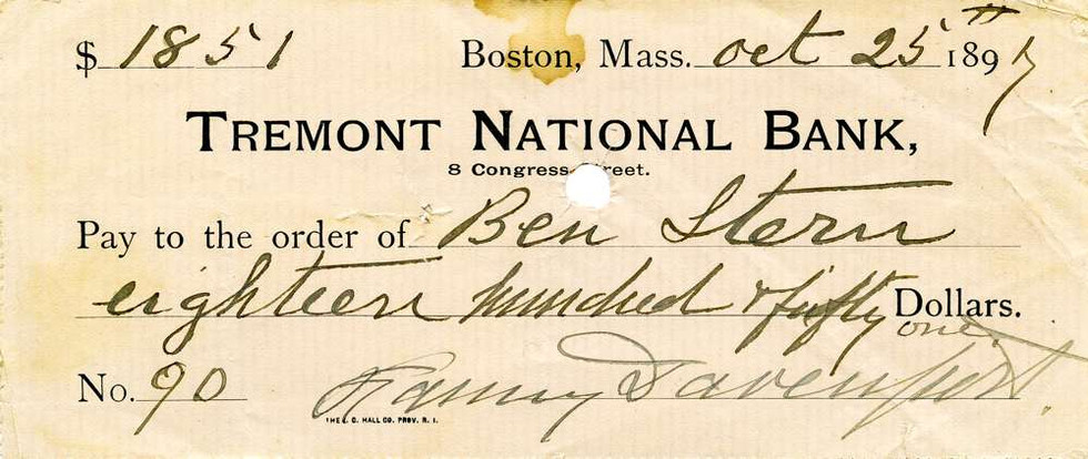 1897 Oct 25, Fanny Davenport