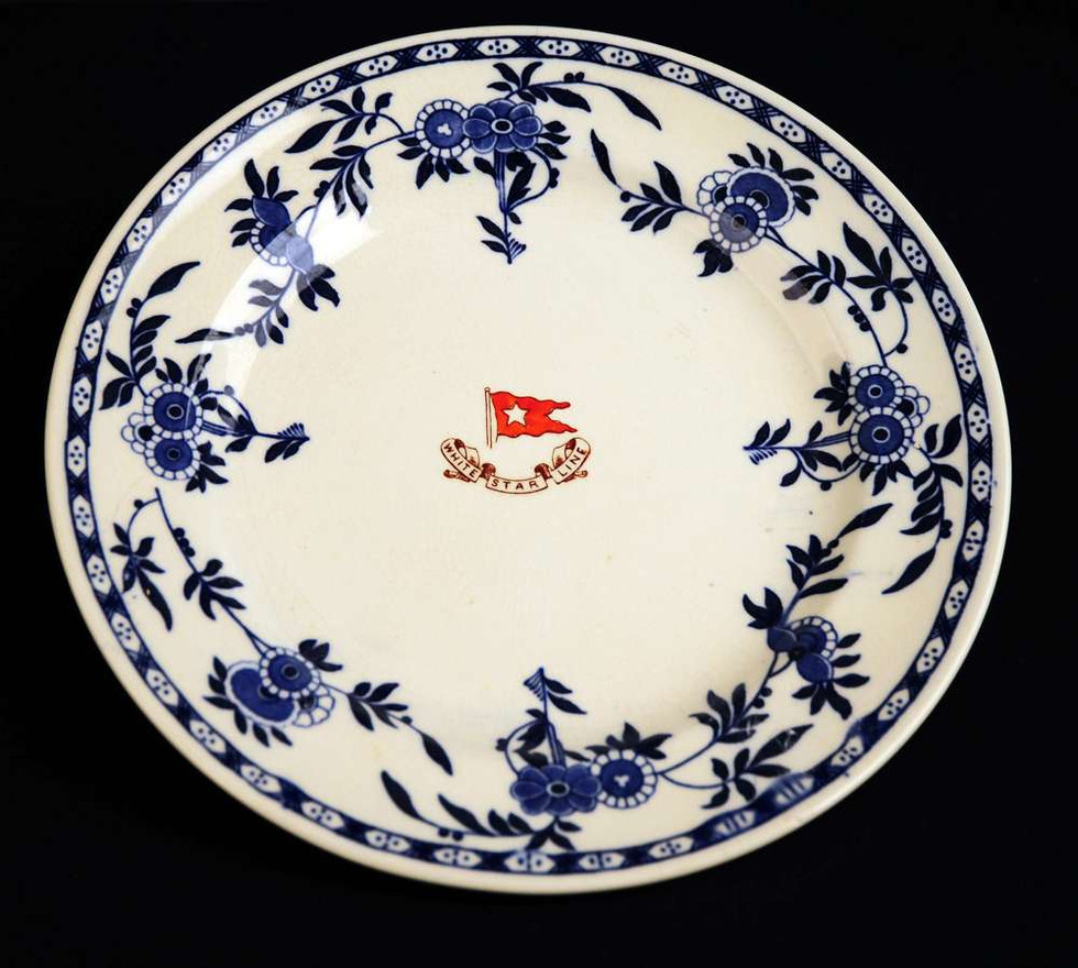 Minton Delft Blue or Flow Blue pattern used in second class table service