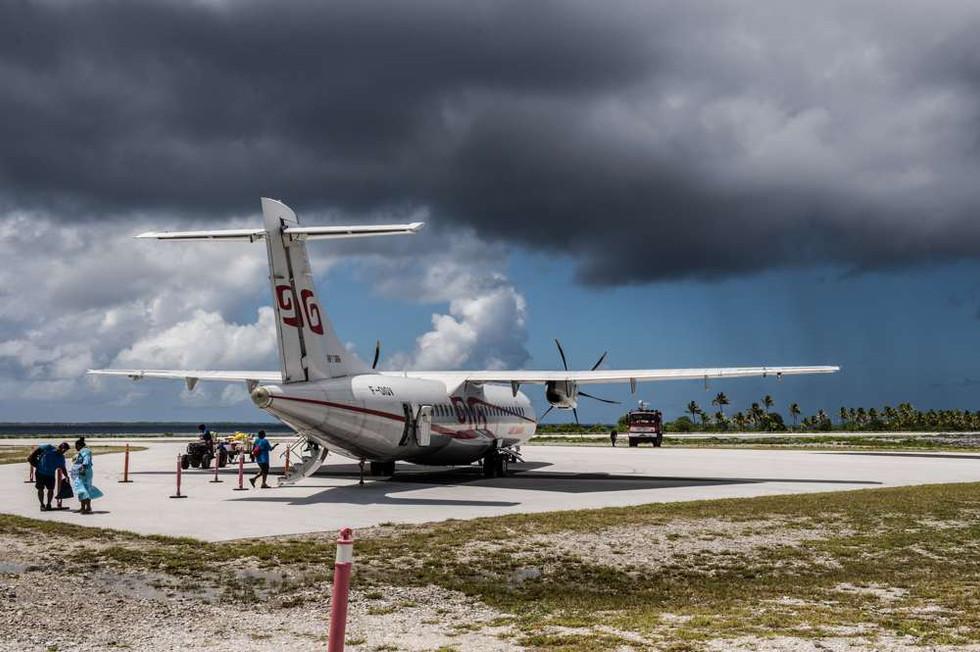 Airport on Tureia Atoll