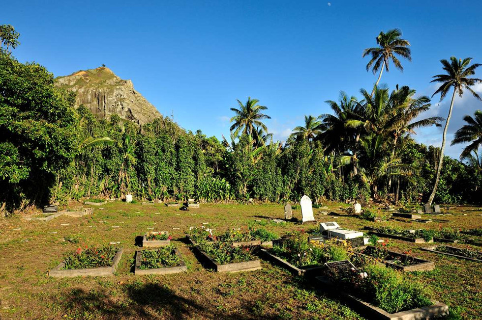 The Cemetery with Christians cave in the background