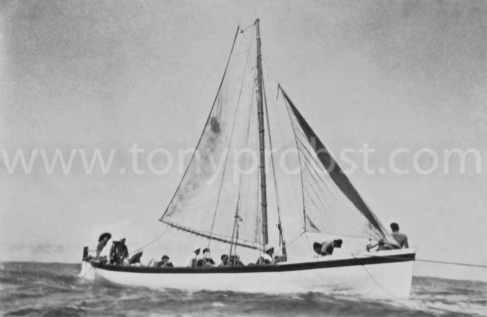 1958 Sept, 20 Longboat under sail