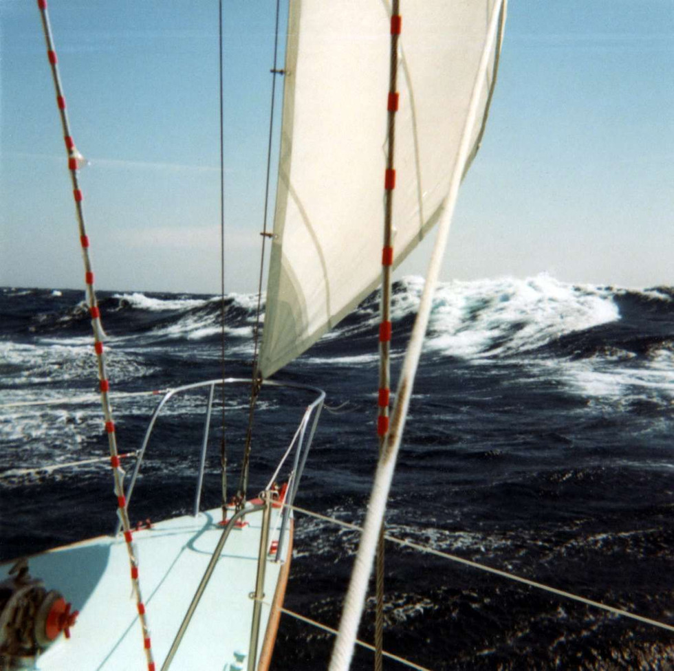 September 7, 1967 Lorelei III spreads her winds for the first time in the North Atlantic bound for Gibraltar