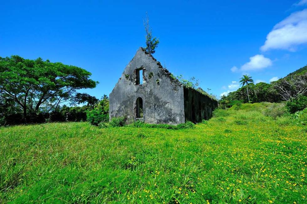 Ruins outside Rikitea, Gambier islands