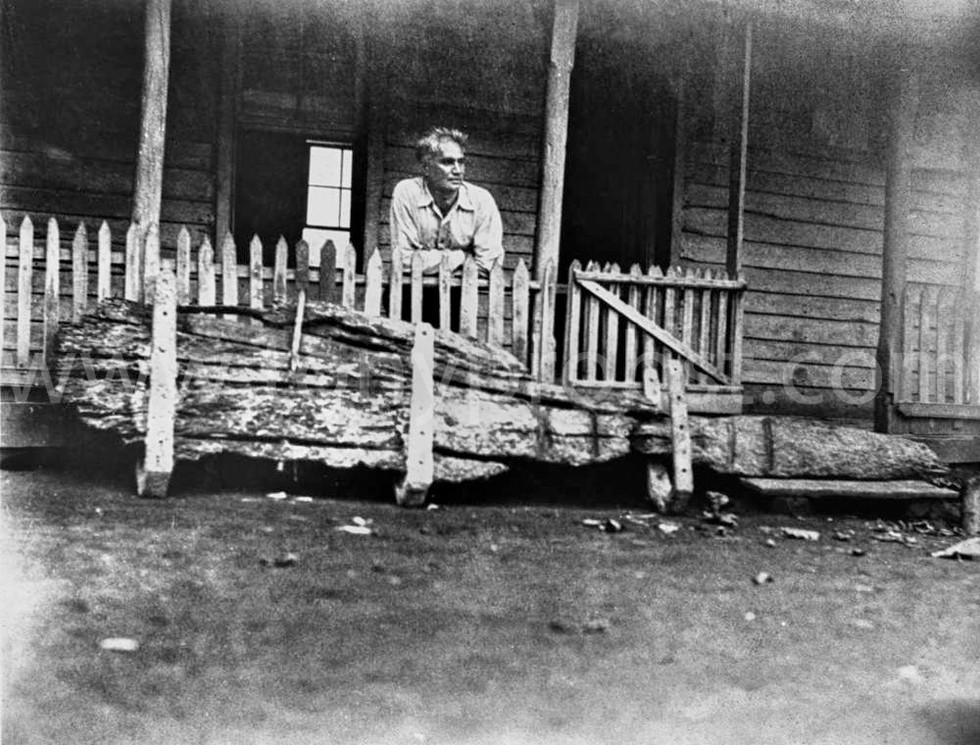 1935 Feb 19 Parkin Christian with the Bounty rudder