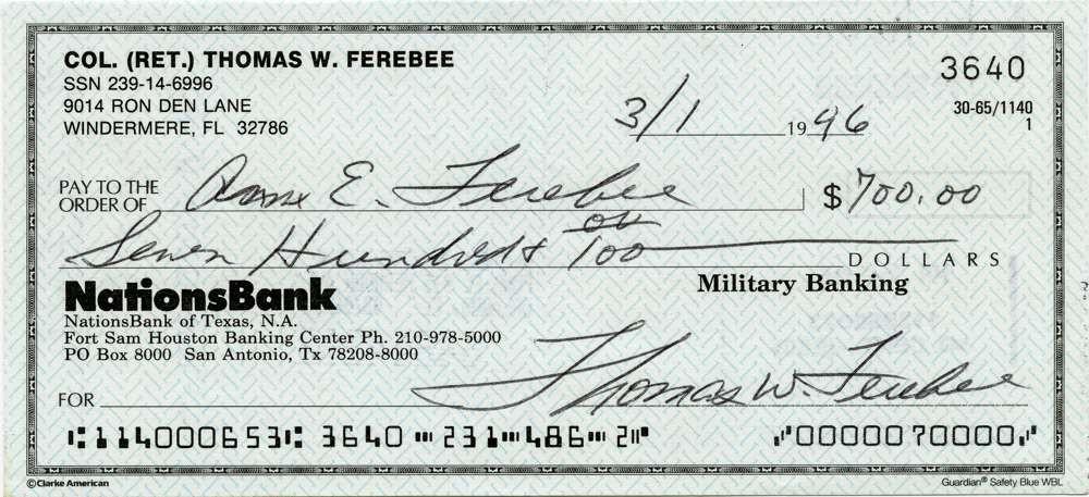 1946 March 1 Thomas Ferebee