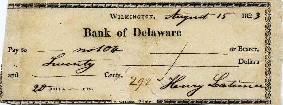 1823 Aug 15 Henry Latimer Jr to slave #104