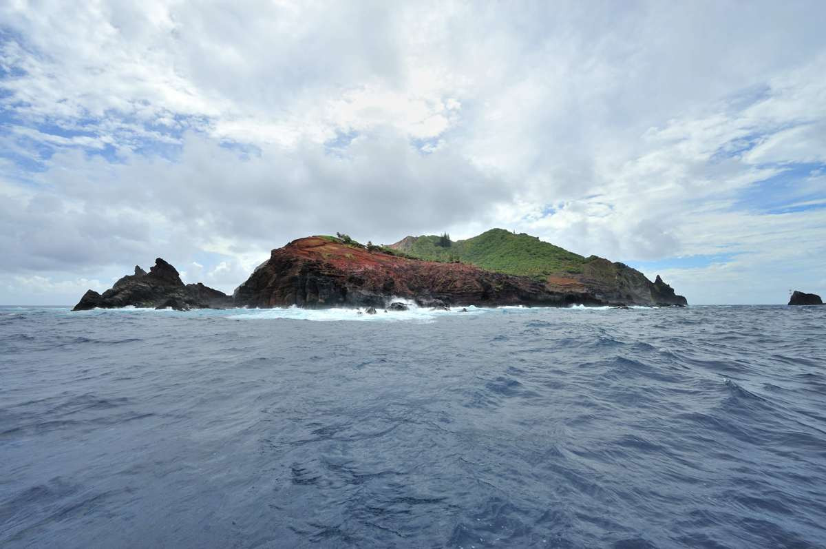 East shore of Pitcairn Island