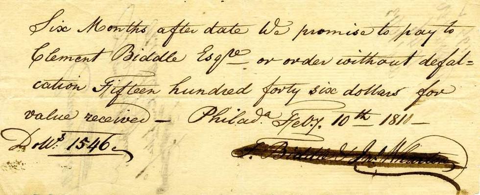 1810 Feb 10, Colonel Biddle
