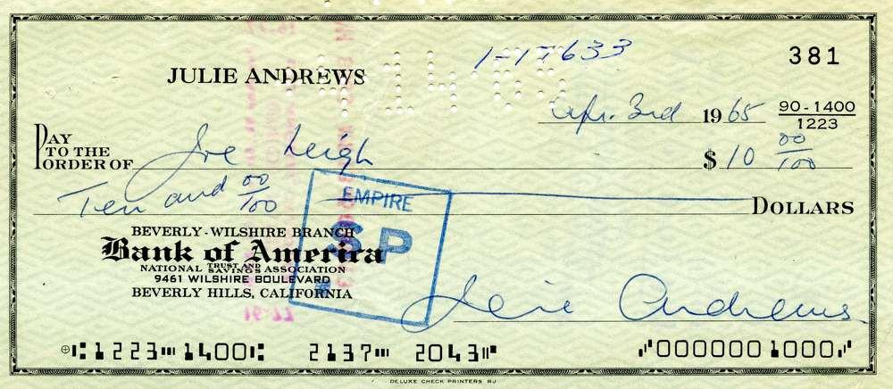 1965 April 3, Julie Andrews