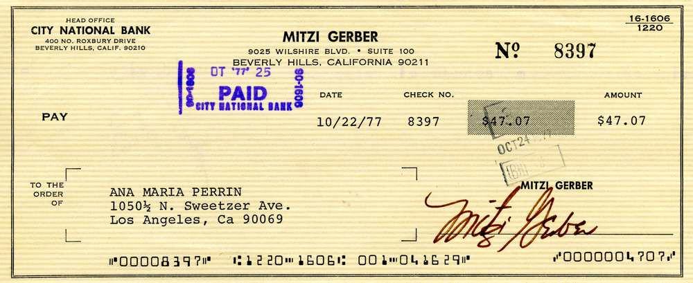 1977 Oct 22, Mitzi Gaynor