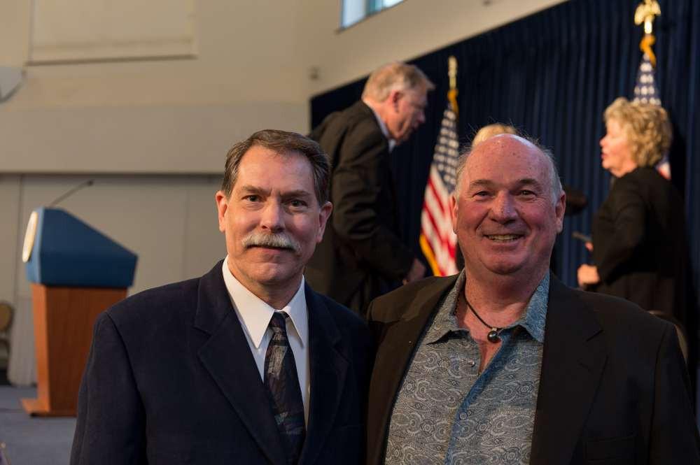 Ken Marschall & Tony Probst at the Ronald Reagan Library Titanic opening