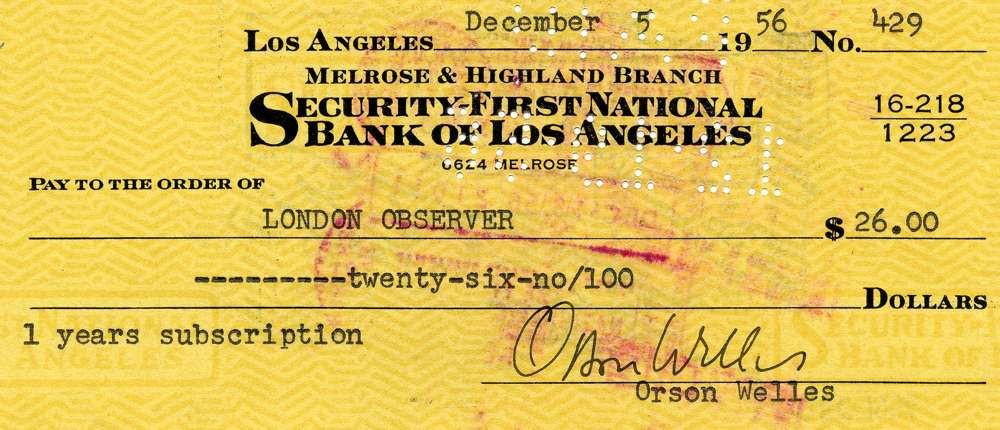 1956 December 5, Orson Welles