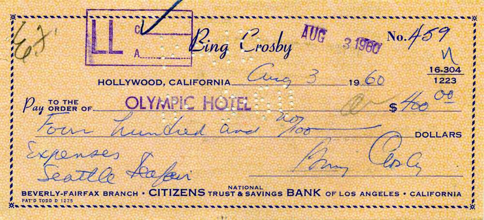 1960 Aug 3 Bing Crosby