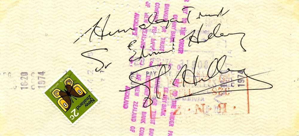 1974 Jan 29, Sir Edmund Hillary