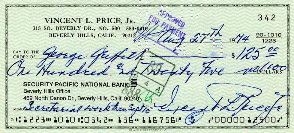1974 Aug 27, Vincent Price