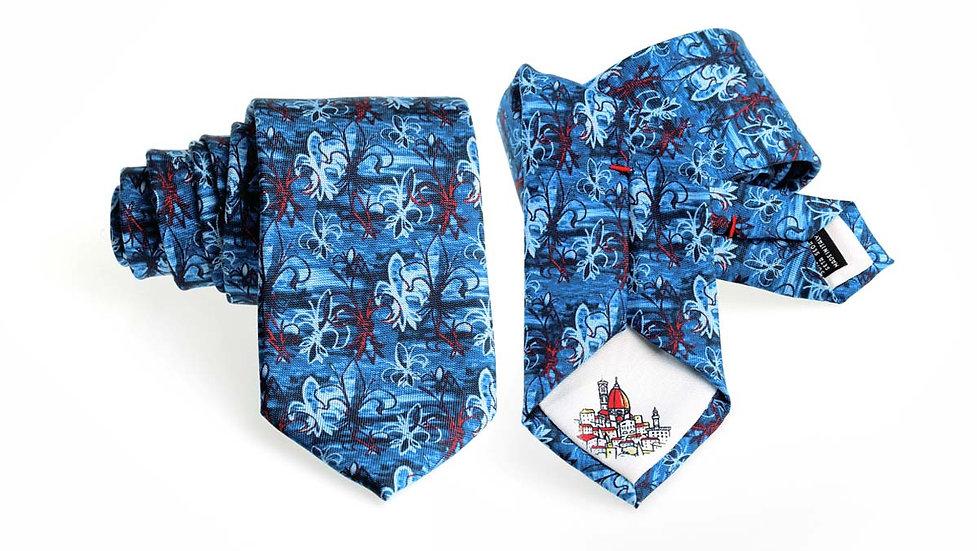 Cravatta seta Gigli | blu